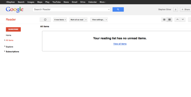 Google Reader zero